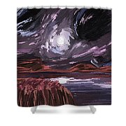 Night Land Shower Curtain