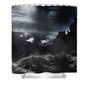 Night Landscape. Australian Mountain View Shower Curtain