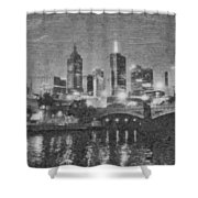 Night Landscape In Melbourne Shower Curtain
