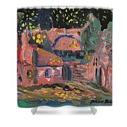 Night Landscape Shower Curtain