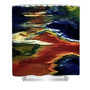 Night Lava #02 Shower Curtain