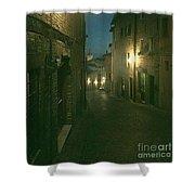 Night Life In Urbino  Shower Curtain