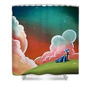 Night Lights Shower Curtain by Cindy Thornton