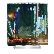 Night Lights City Shower Curtain