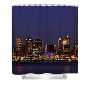 Night Lights Of Downtown Vancouver Shower Curtain