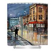 Night Lights Shower Curtain by Ryan Radke