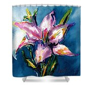 Night Lily Shower Curtain
