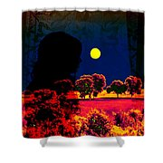 Night Loneliness Shower Curtain