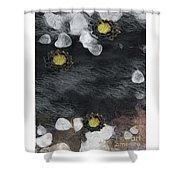 Night Lotus Shower Curtain