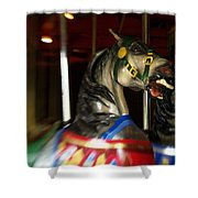 Night Mares At The Central Park Carousel 3 Shower Curtain
