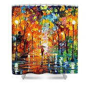 Night Mood In The Park Shower Curtain