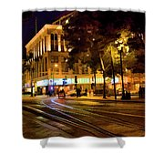 Night Moods San Jose Ca  Shower Curtain