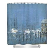 Night Mooring Shower Curtain