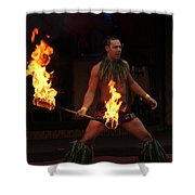 Night Of Fire Shower Curtain