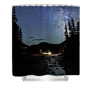 Night On The Blue River Shower Curtain