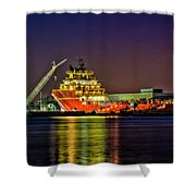 Night Overhaul Shower Curtain