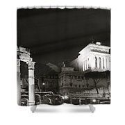 Night Panorama In Rome Shower Curtain