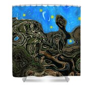 Night Petrified Shower Curtain