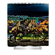Night Racing Shower Curtain