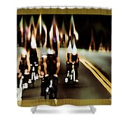Night Rider Shower Curtain