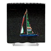 Night Sail 2 Shower Curtain