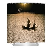 Night Sail Shower Curtain