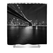 Night Scape Bw Shower Curtain