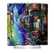 Night Scene In The Big Easy Shower Curtain