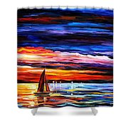 Night Sea  Shower Curtain