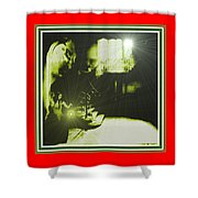 Night Search No. 14 H B With Decorative Ornate Printed Frame. Shower Curtain