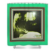 Night Search No. 14 With Decorative Ornate Printed Frame. Shower Curtain