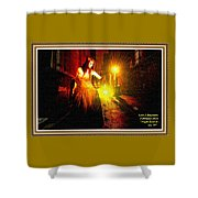 Night Search No. 20 L A With Decorative Ornate Printed Frame. Shower Curtain