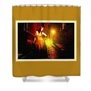 Night Search No. 20 L B With Decorative Ornate Printed Frame. Shower Curtain