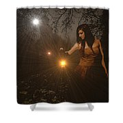 Night Search No. 8 H B Shower Curtain