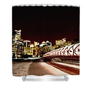 Night Shots Calgary Alberta Canada Shower Curtain