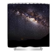 Night Sky - Haleakala Summit Shower Curtain