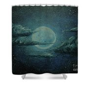 Night Sky Peek-a-boo Shower Curtain