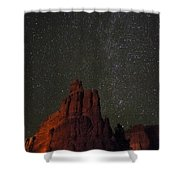 Night Sky Red Rock 2733 Shower Curtain