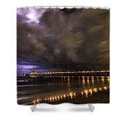 Night Storm Shower Curtain