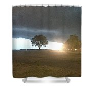 Night Storm Shower Curtain