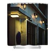 Night Street Cafe Shower Curtain