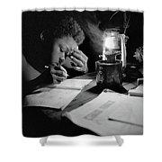 Night Study Shower Curtain