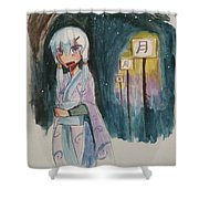 Night Stutter Shower Curtain