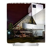 Night Time At The Rock Hall Shower Curtain