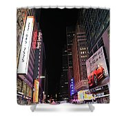 Night Time At Times Square Shower Curtain