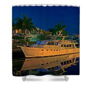 Night Time In Fort Lauderdale Shower Curtain