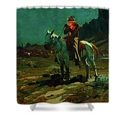 Night Time In Wyoming Shower Curtain