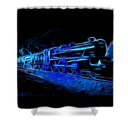 Night Train To Romance Shower Curtain by Aaron Berg