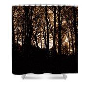 Night Trees Shower Curtain