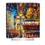 Night Trolley Shower Curtain